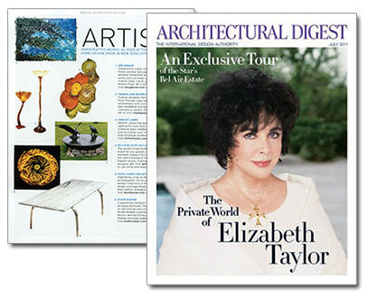 DAVID LEASER'S BOTANICAL IMAGE APPEARS IN THE JULY ISSUE OF ARCHITECTURAL DIGEST