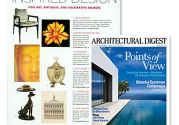 DAVID LEASER'S BOTANICAL IMAGE APPEARS IN THE AUGUST ISSUE OF ARCHITECTURAL DIGEST