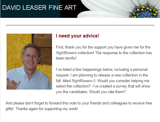 DAVID LEASER FINE ART NEWSLETTER – JULY 2011