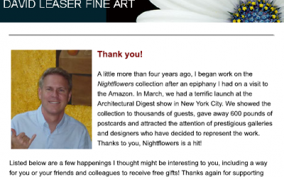 DAVID LEASER FINE ART NEWSLETTER – MAY 2011