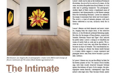 THE INTIMATE GLAMOUR OF FLOWERS BY NEW YORK ART CRITIC JOHN MENDELSOHN